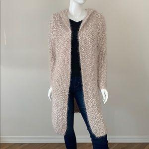 NWT POL Hooded Long Knit Cardigan